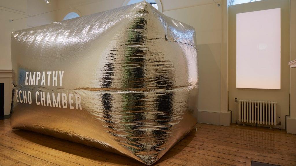 "Enni-Kukka Tuomala creates inflatable chrome ""echo chamber"" for London Design Biennale"