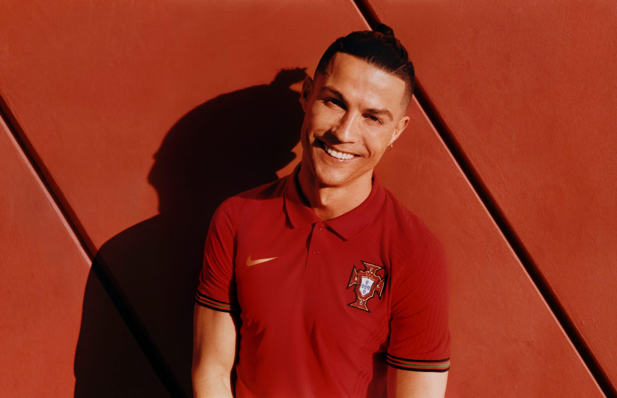 Cristiano Ronaldo in Portugal kit