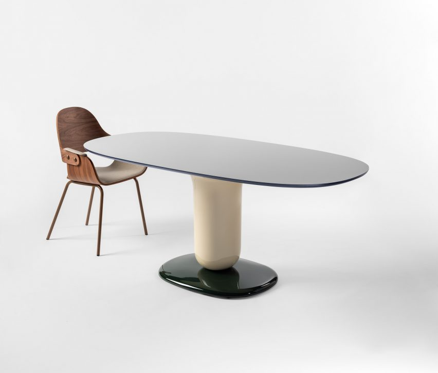 A pedestal dining table by Jaime Hayon