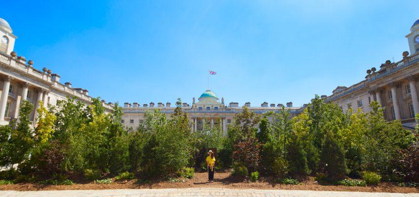 Visitor at London Design Biennale