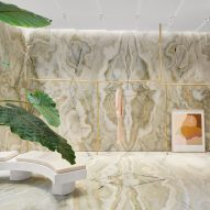 """Fashion brand Forte Forte """"drowns"""" its Rome store in green onyx"""
