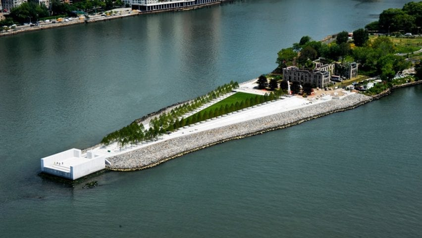 Four Freedoms Park in New York, USA, by Louis Kahn