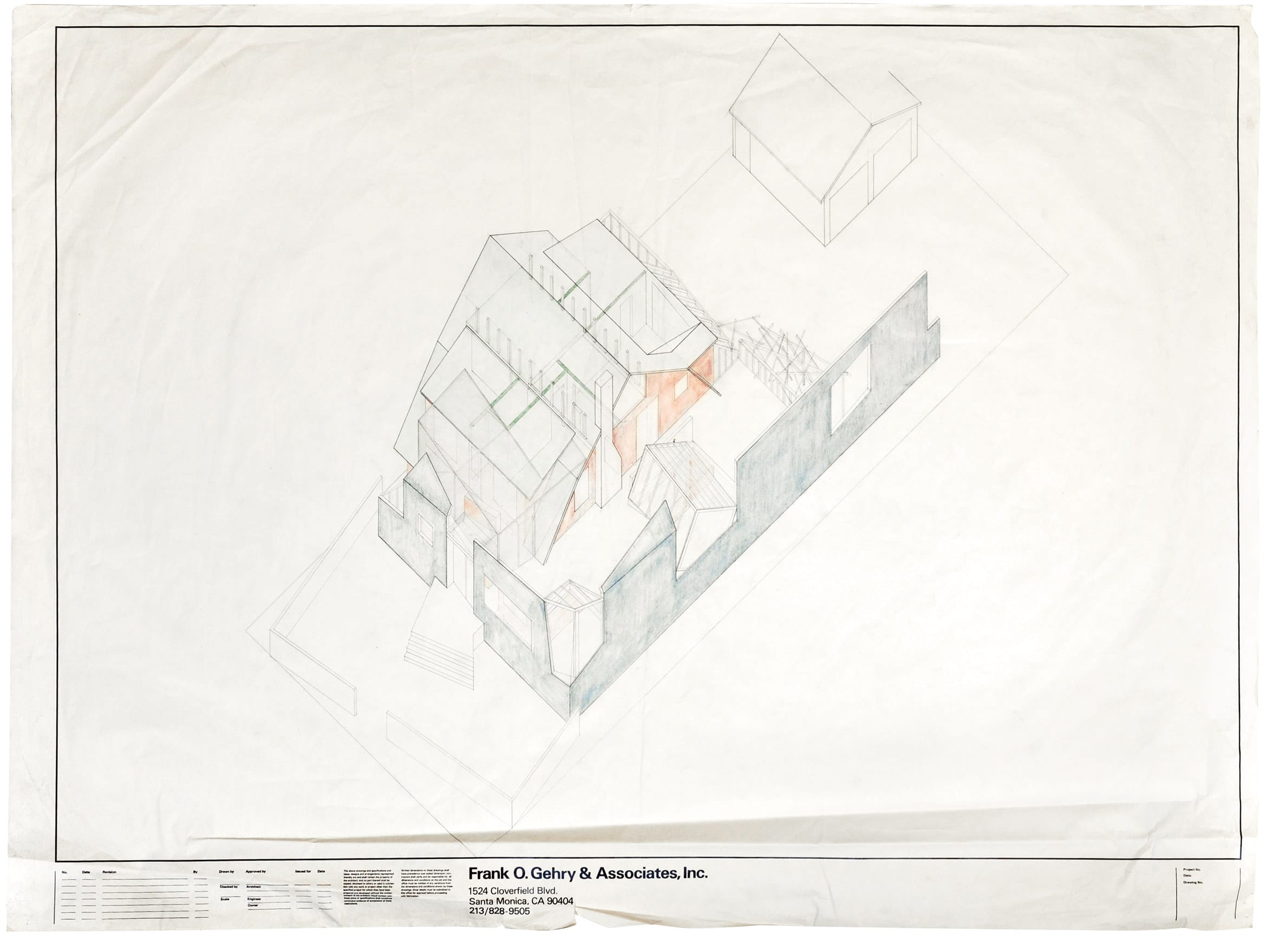 Drawing of Gehry's house in Santa Monica