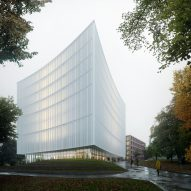 Cobe reveals design for Gothenburg University Library with facade curved like book pages