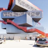 The exterior of the Harbour Experience Centre by MVRDV