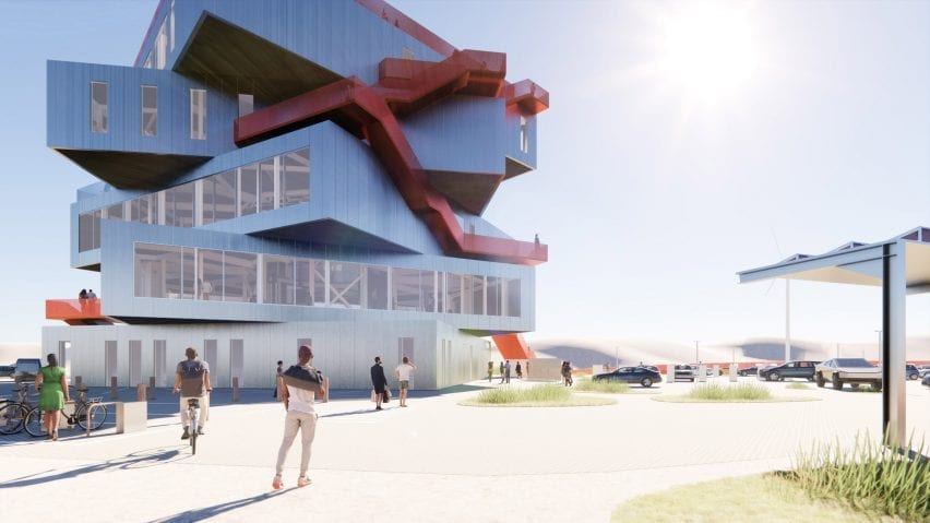 A visitor centre proposal in the Port of Rotterdam