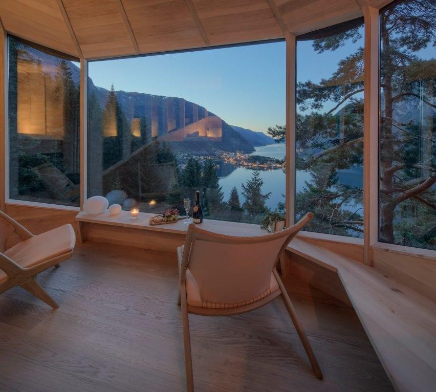 Interiors have views across the landscape