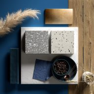 HI-MACS solid surface material in terrazzo colours