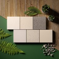 HI-MACS solid surface material in recycled colours