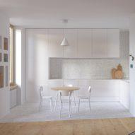 A kitchen with iD Inspiration flooring by Tarkett