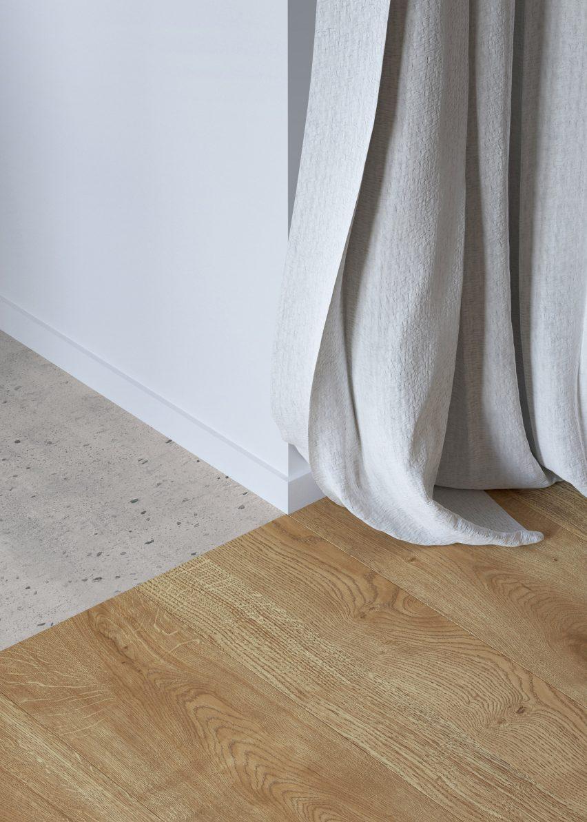 Wood-like vinyl flooring by Tarkett