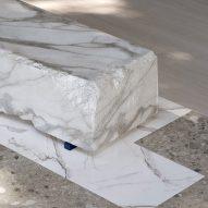 Stone-like vinyl flooring