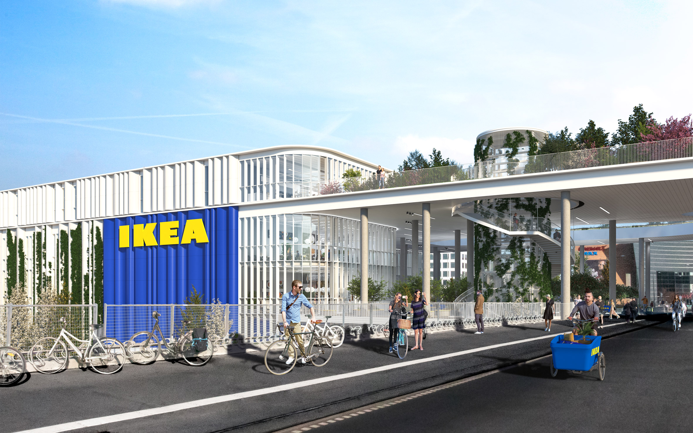 A visual of a city-centre IKEA store
