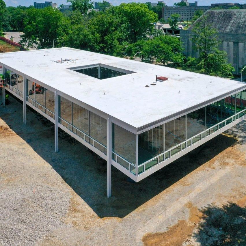 Mies van der Rohe building at Indiana University