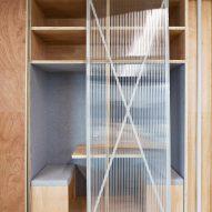 Glass door study space