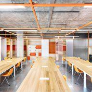 Workspace in Design District building