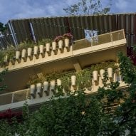 Planters line the balconies