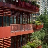 Balconies wrap around the offices