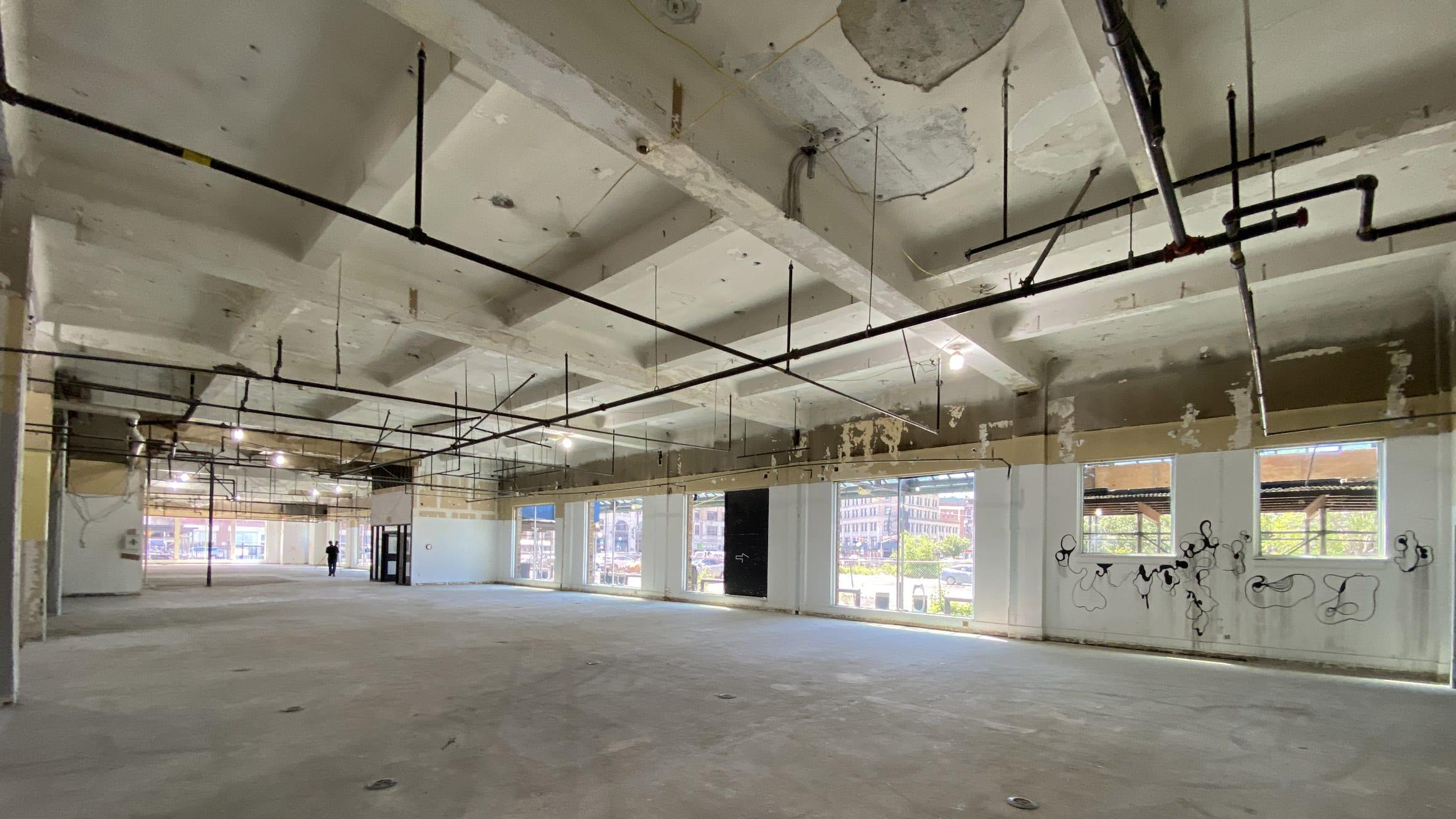 The Centre Pompidou Jersey City has a concrete construction