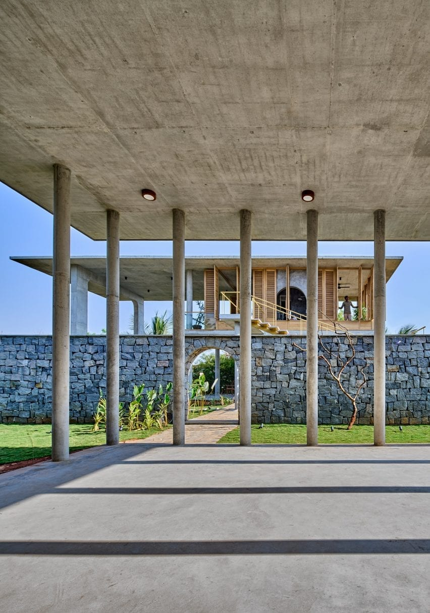 Pavilion of Ksaraah house in Bangalore by Taliesyn