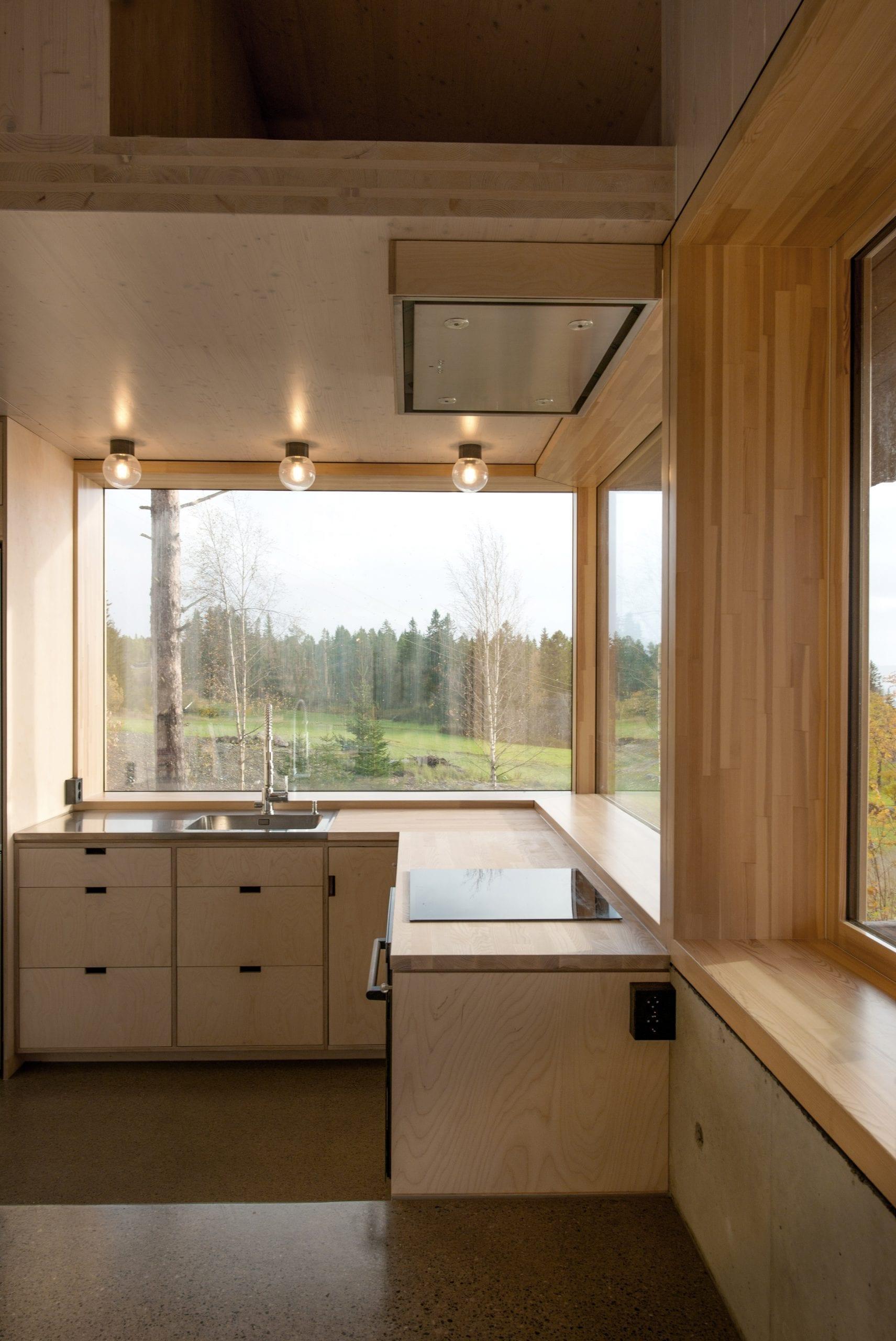 plywood kitchen by Sanden+Hodnekvam Arkitekter