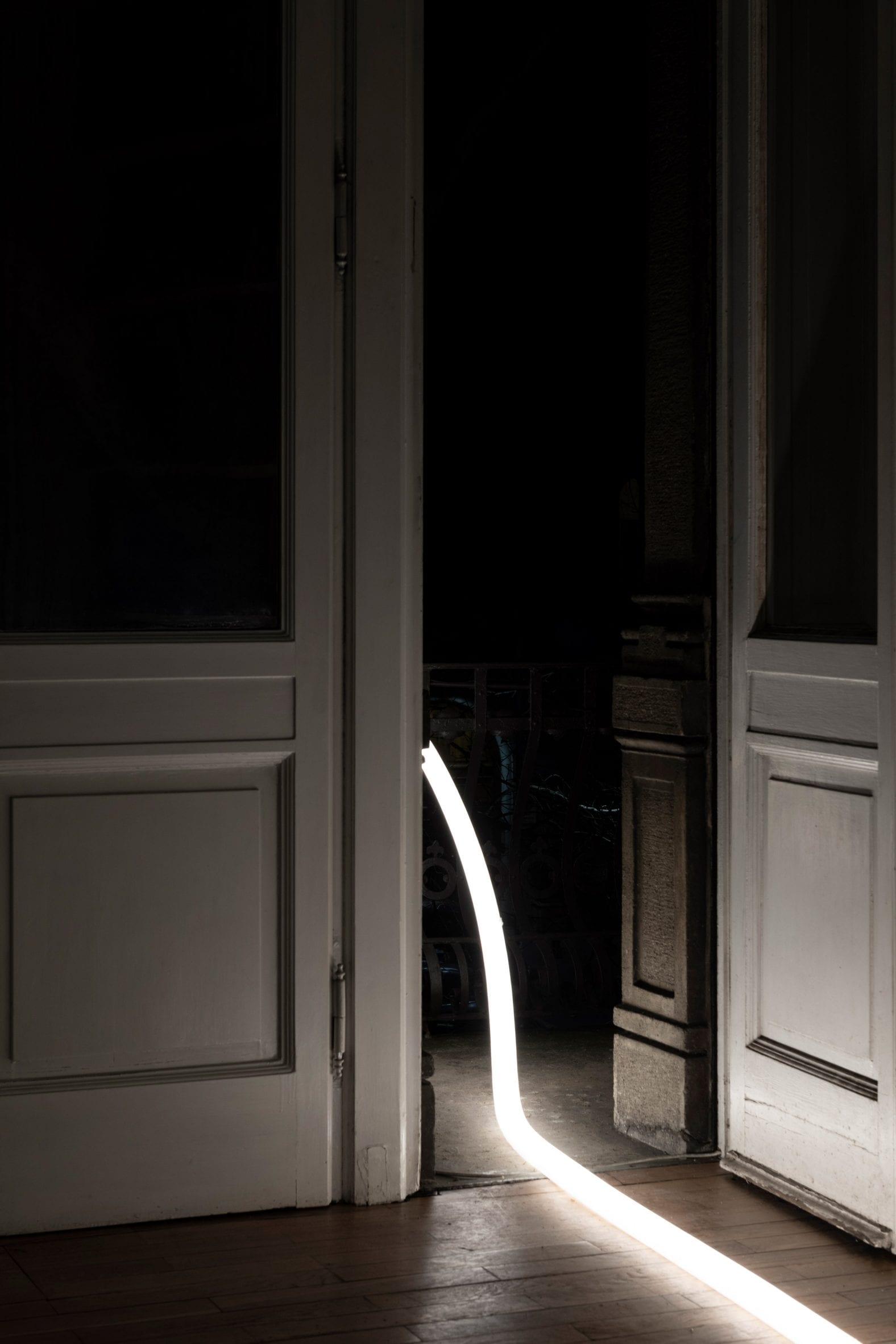 La Linea light inside a doorframe