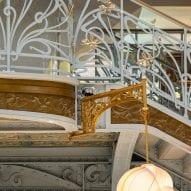 Details of the atrium in La Samaritaine