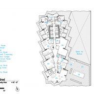 Level seven amenity floor plan