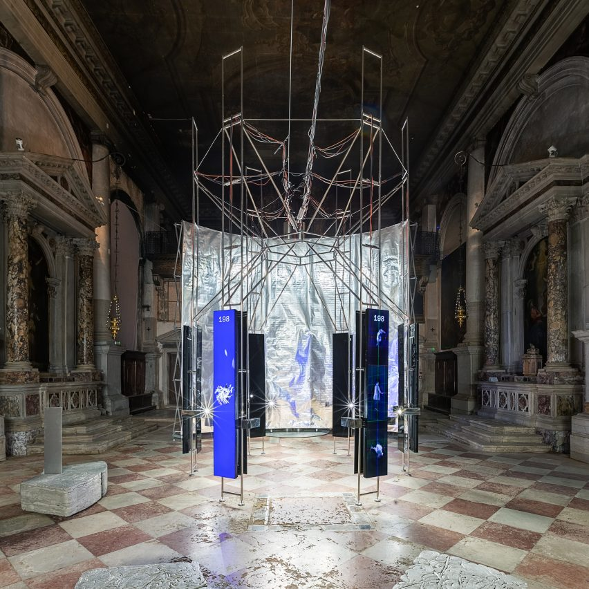 A 3D scanner is at the centre of the Lithuanian Pavilion