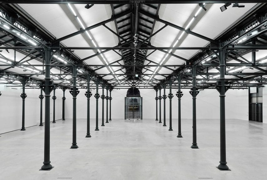 Exhibition space at Luma Arles