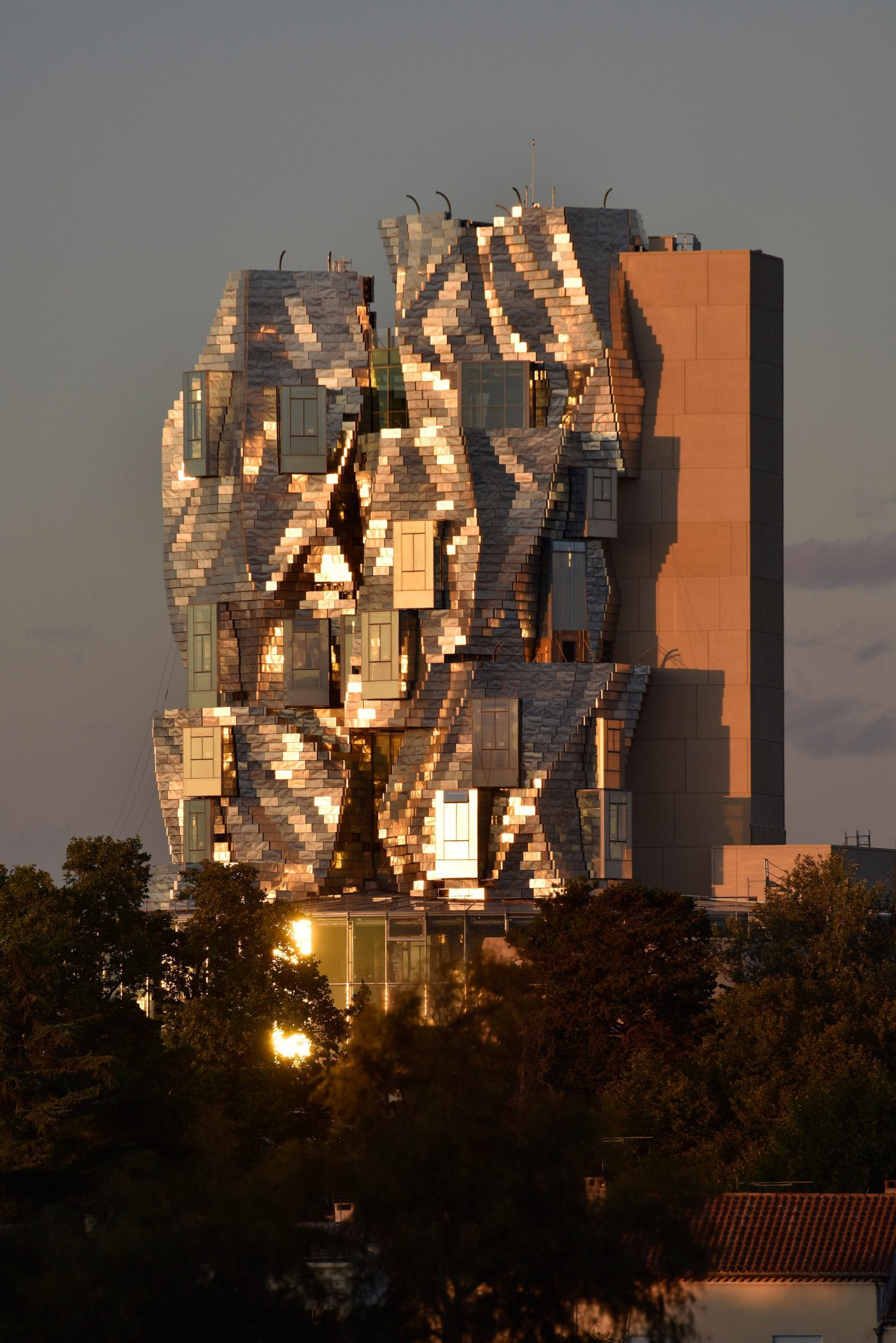 Reflections of The Tower by Frank Gehry