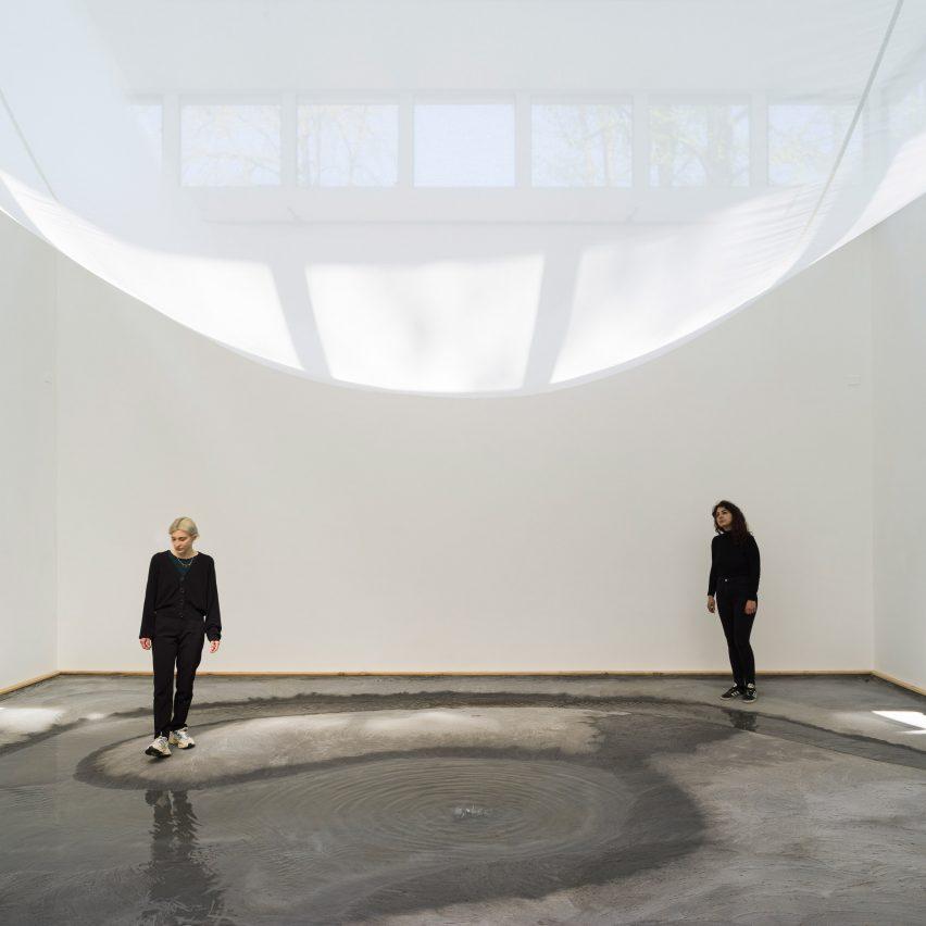 Water runs through the Danish Pavilion