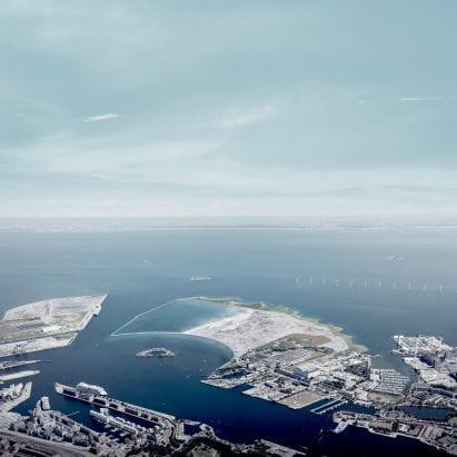 Artificial island off the coast of Copenhagen