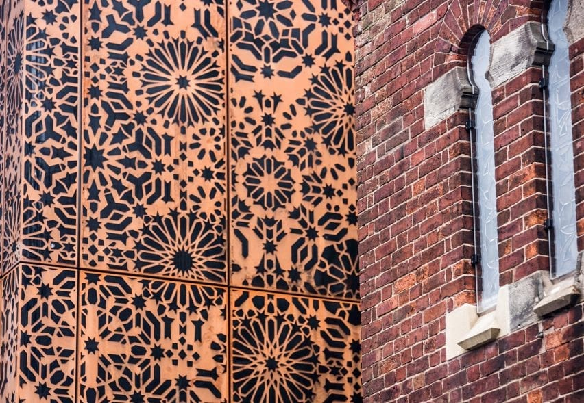 Perforated Corten extension
