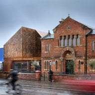 """Citizens Design Bureau adds """"delicately perforated"""" Corten extension to Manchester Jewish Museum"""