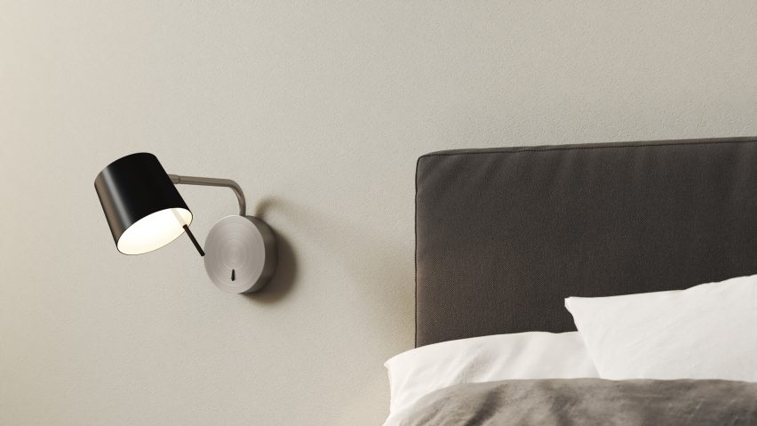 Miura wall light used as a bedside lamp