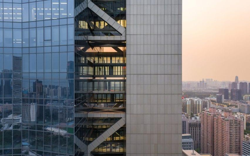 Sky bridges in Chinese skyscraper