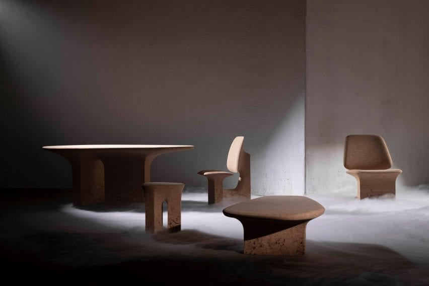 Burnt Cork furniture by Noé Duchafour-Lawrance