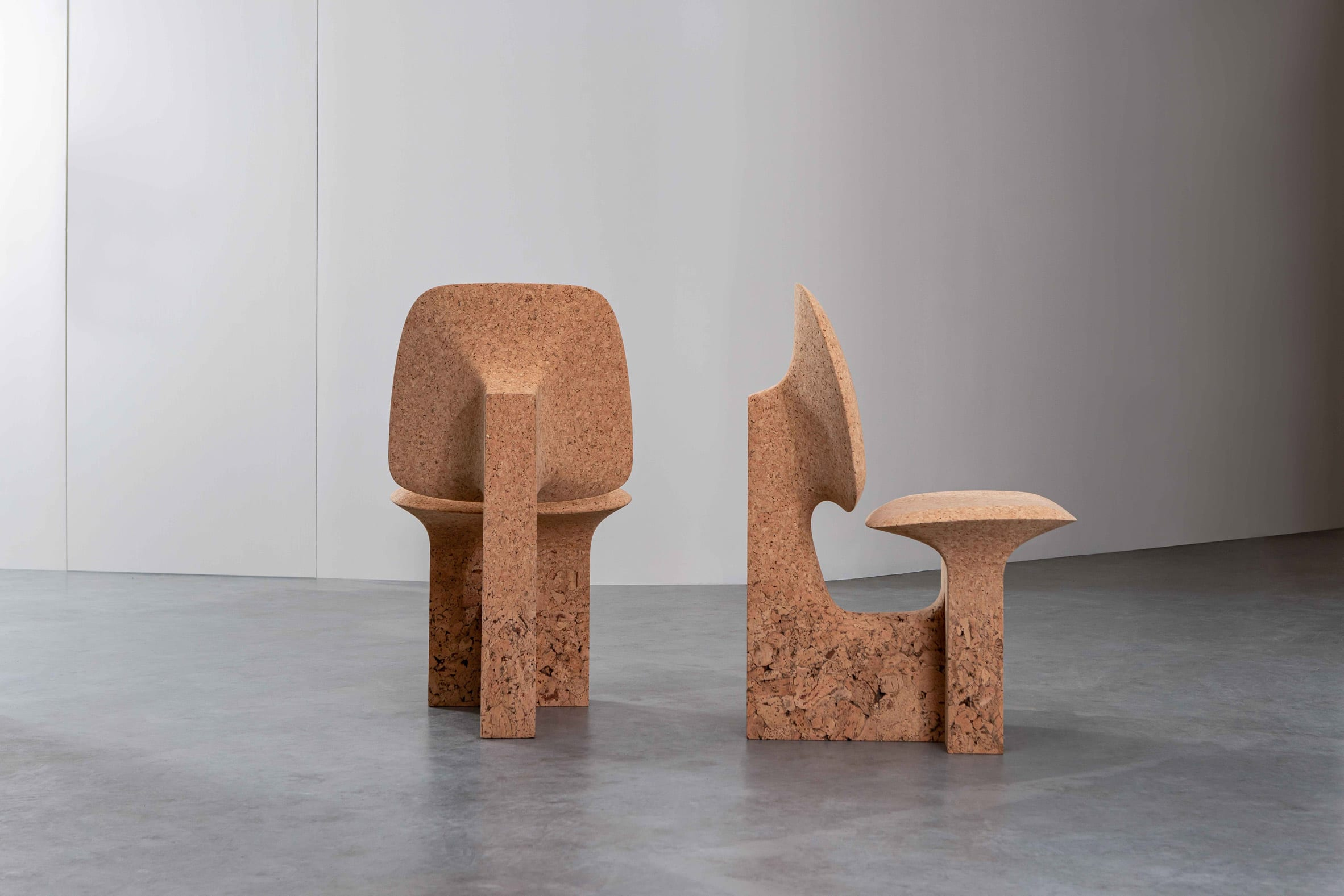 Burnt Cork chair with textured base