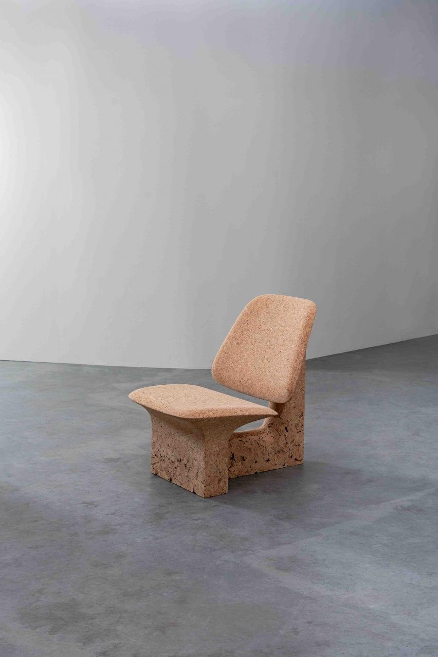 Burnt Cork chair by Noé Duchafour-Lawrance
