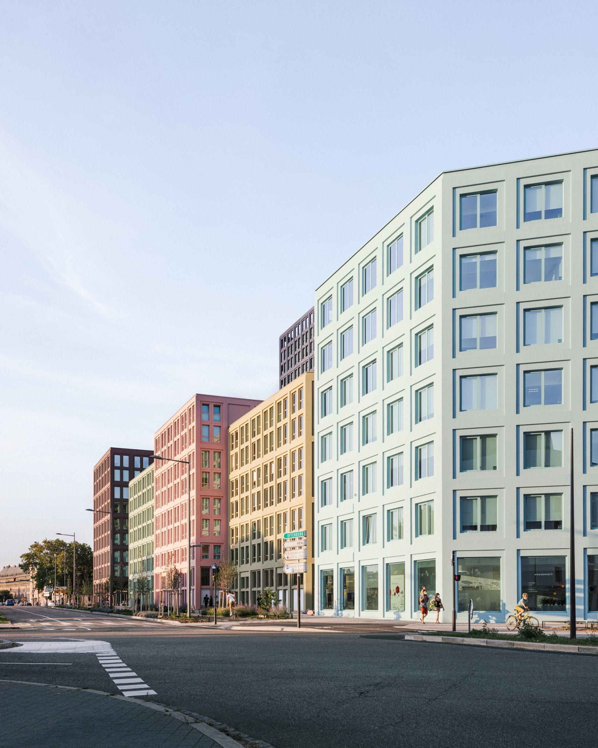 Pastel-coloured buildings by LAN Architecture
