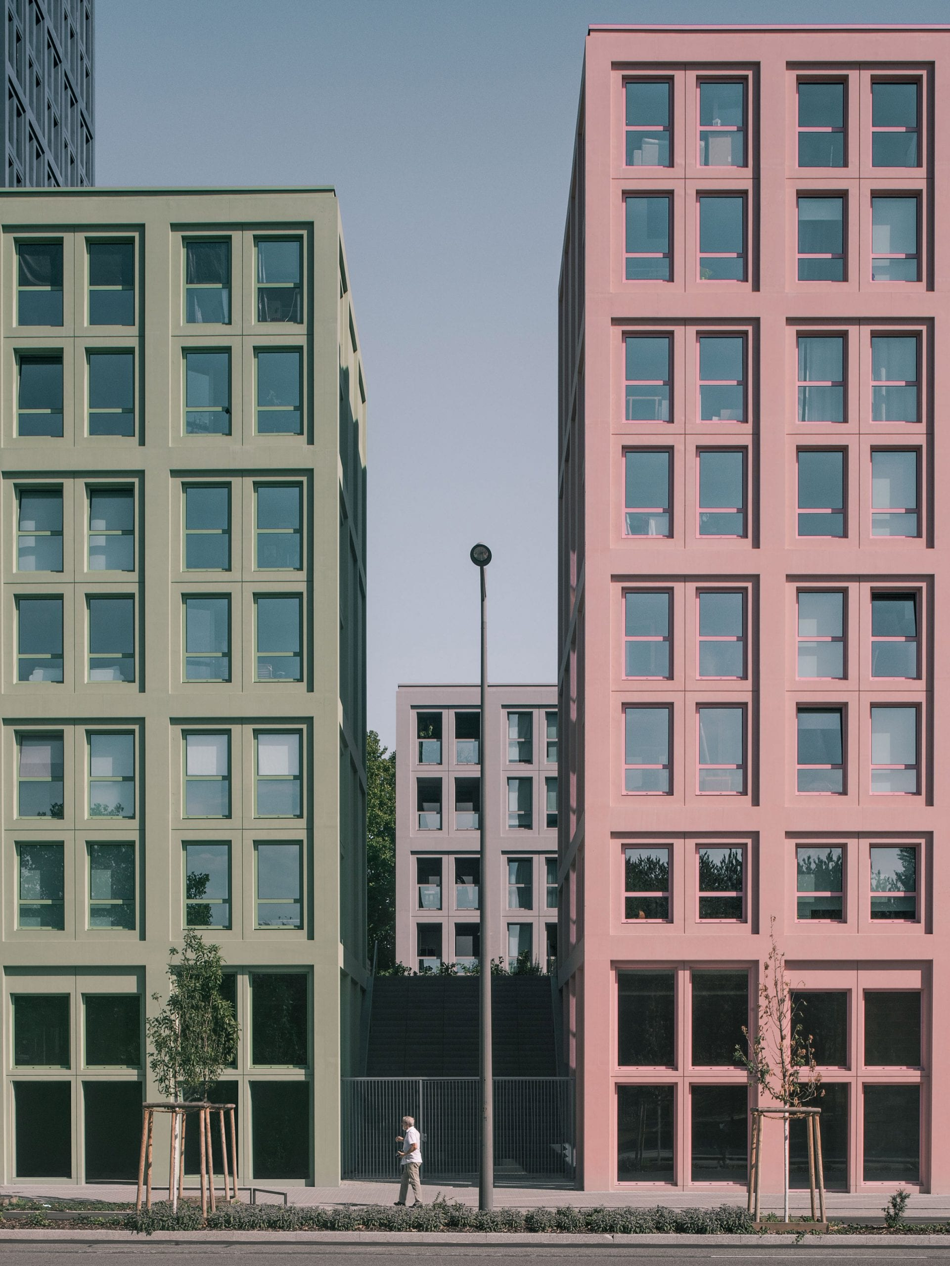 Gridded facades of Nolistra buildings