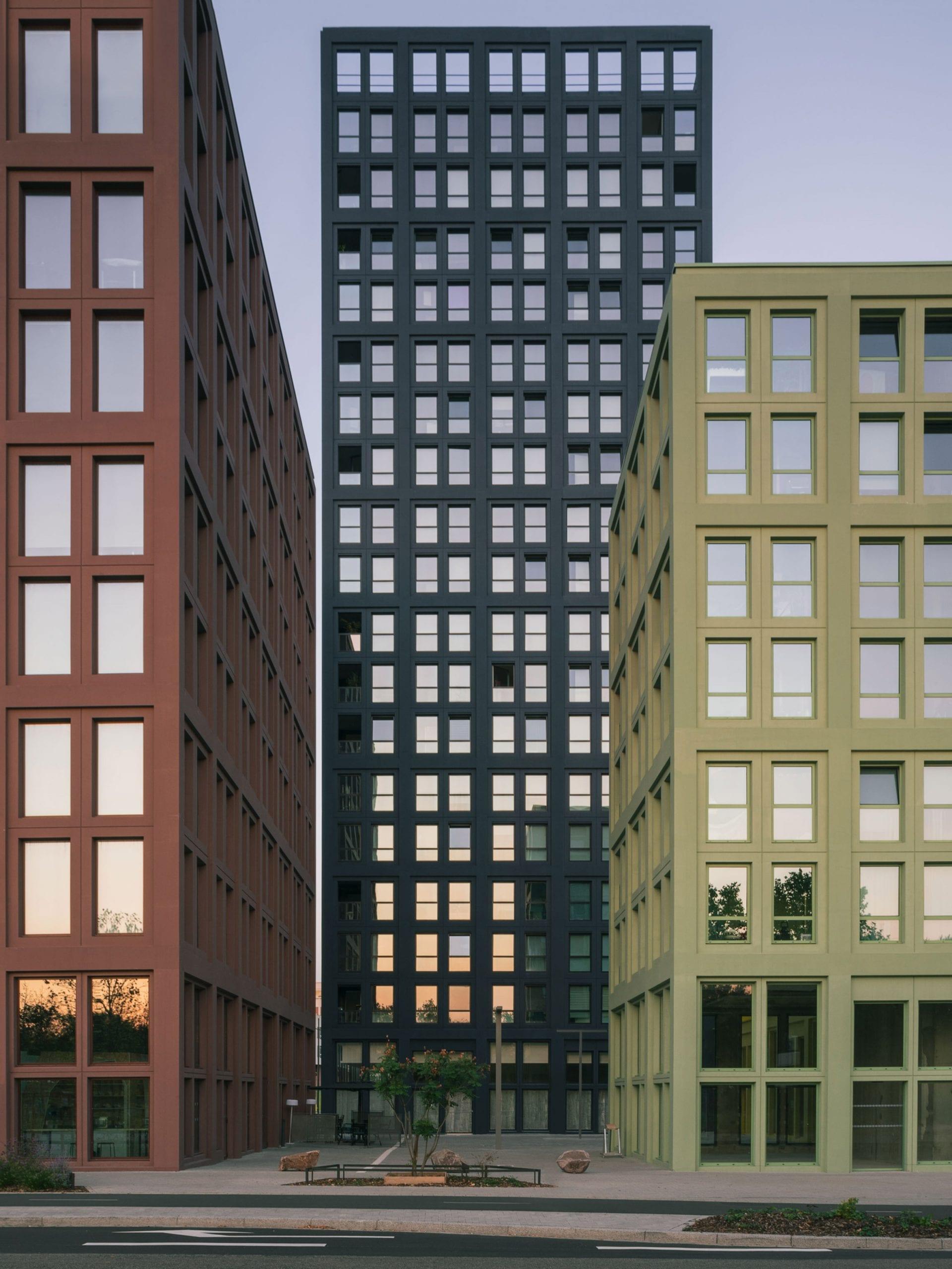 Windows on facades of Strasbourg development