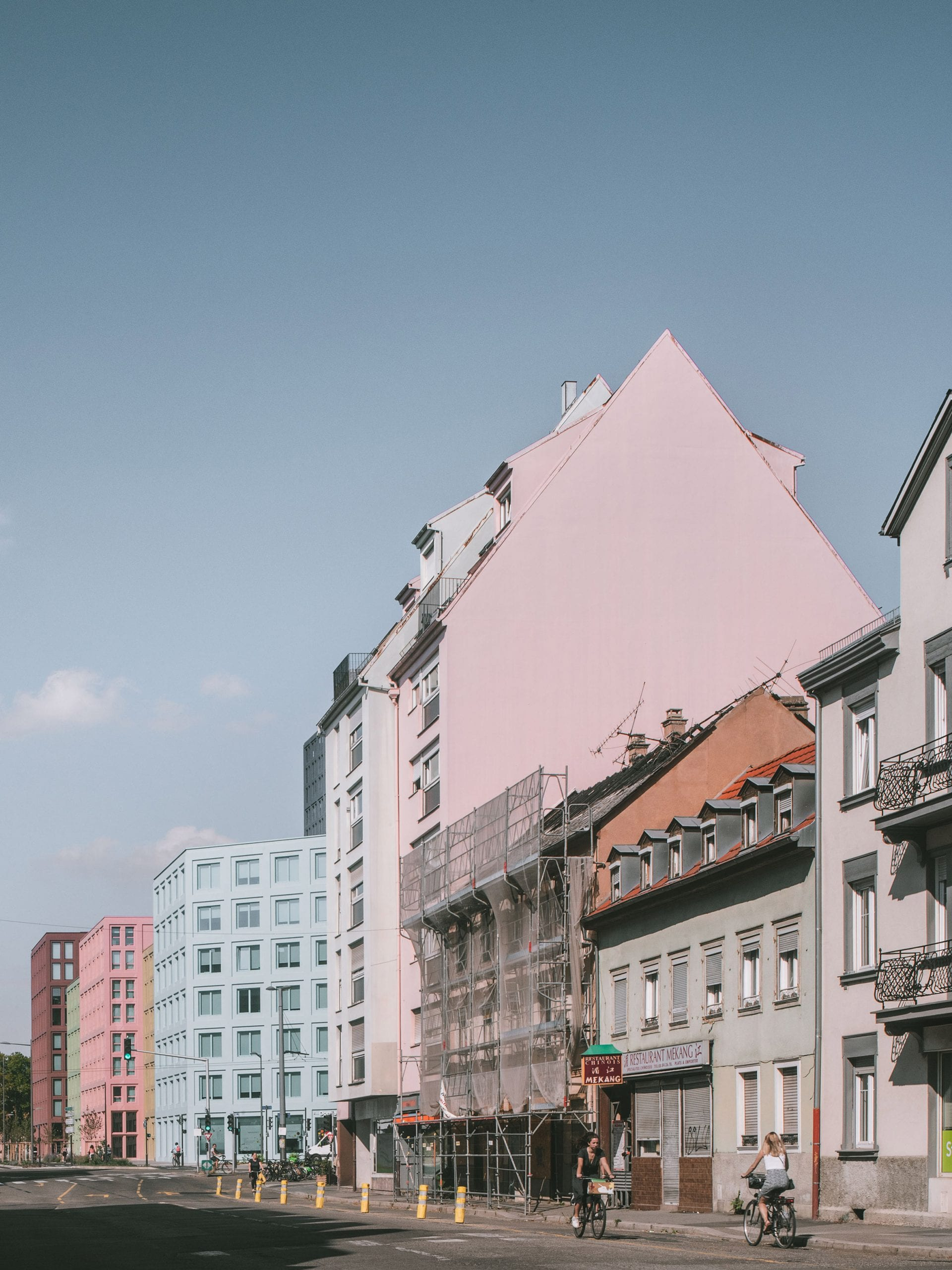 Exterior of housing development