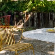 Not Out outdoor chairs and Notable tables by True Design