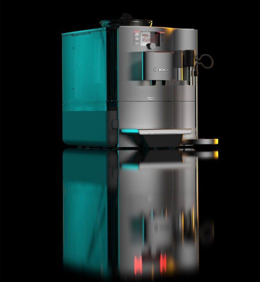 A render of a Bosch coffee machine