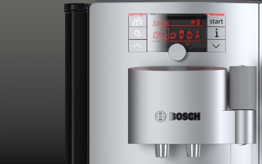 Detail of a Bosch coffee machine render