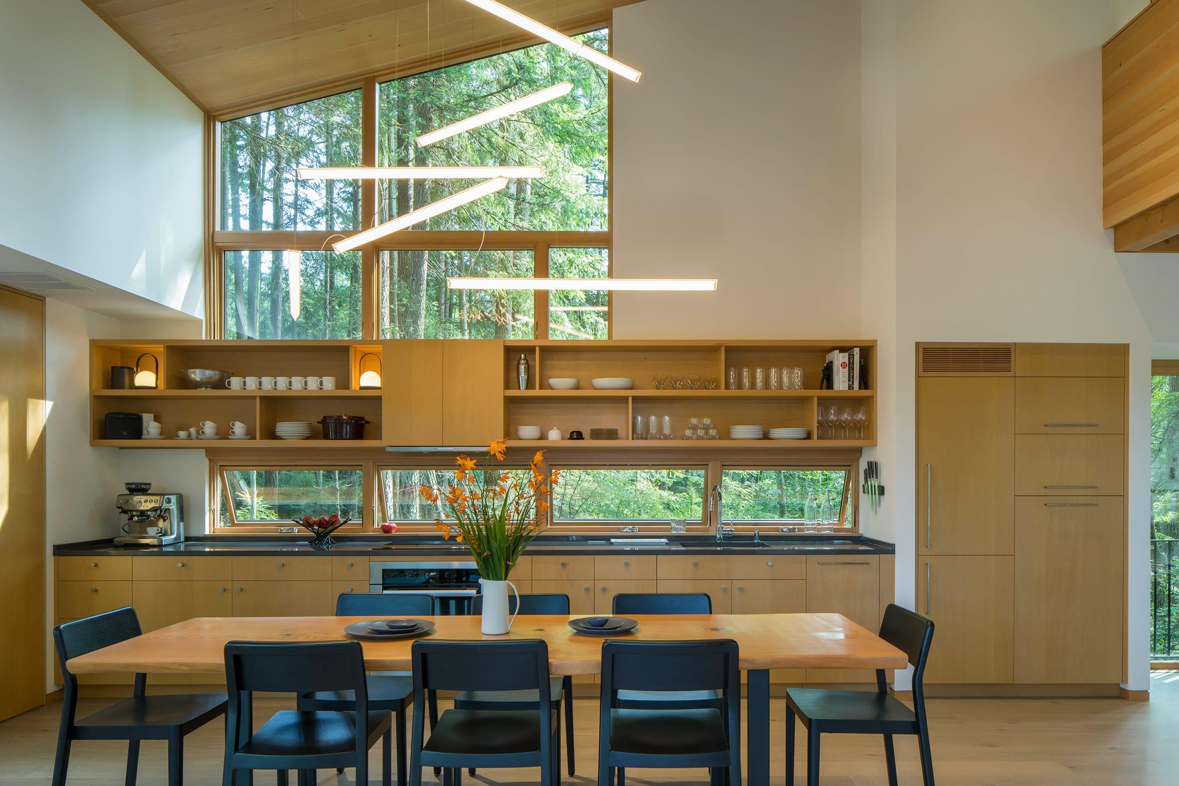 Wooden one-wall kitchen by David Van Galen