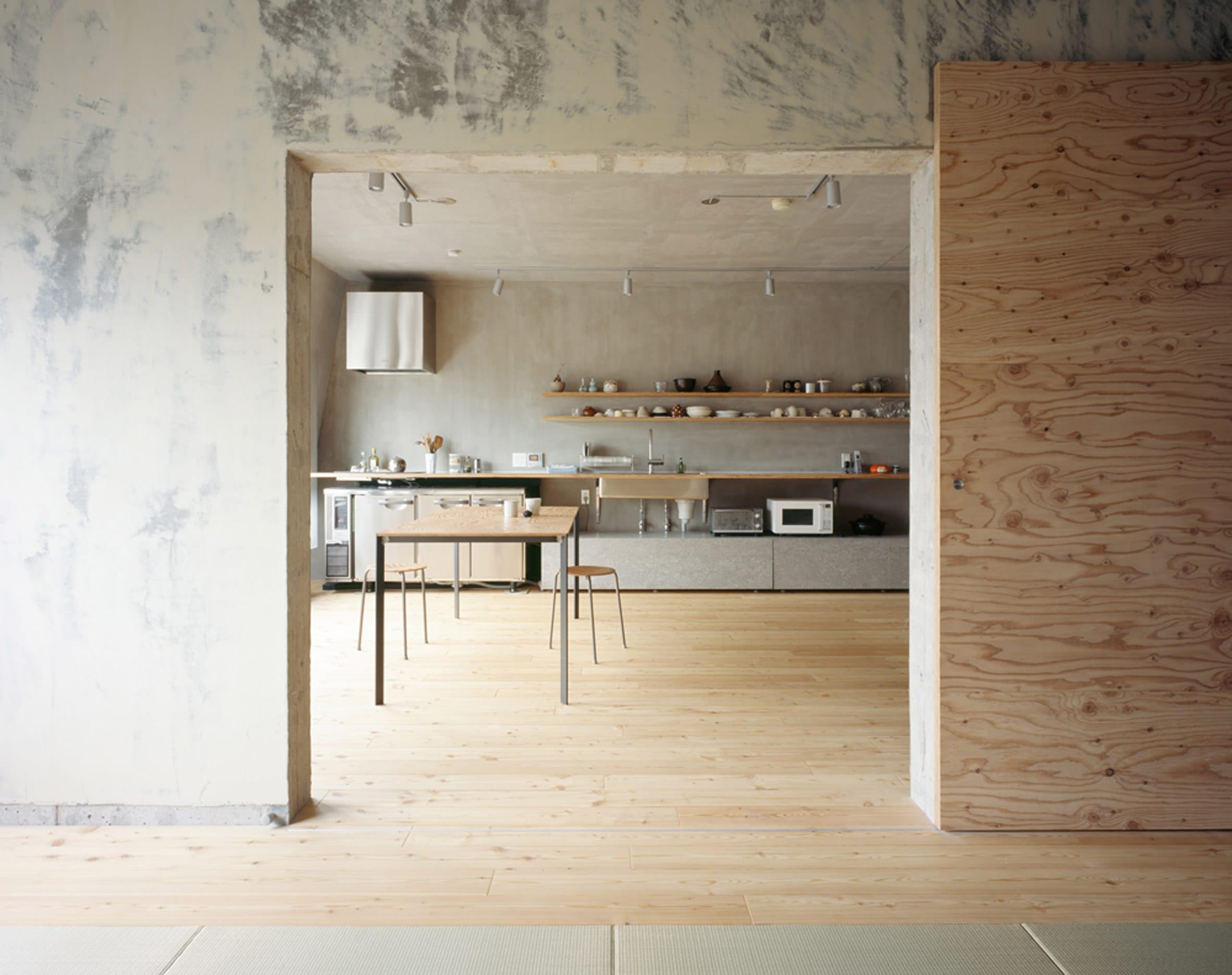 A one-wall kitchen by Naruse Inokuma Architects