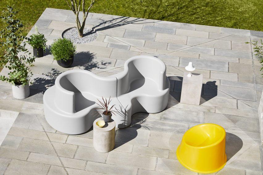 Cloverleaf outdoor sofa